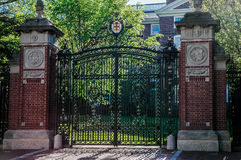 Historic front gates of Brown University. Royalty Free Stock Photos