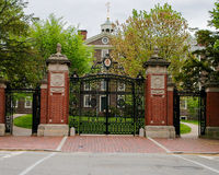 Historic front gates of Brown University. stock image