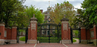 Historic front gates of Brown University. Royalty Free Stock Photo