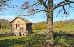 Historic frontier cabin. At Cumberland Gap National Historical Park royalty free stock photo