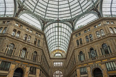 The historic gallery of Naples in Italy Stock Photography