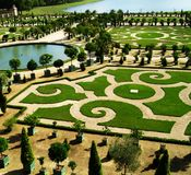 Historic garden. Verailles Castle's park Stock Photo