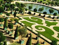 Historic garden. Verailles Castle's park Royalty Free Stock Photography