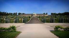 Historic gardens and palace architecture in Potsdam / Germany Stock Photography