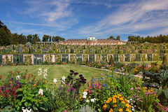 Historic gardens and Sanssouci palace architecture in Potsdam Royalty Free Stock Photos