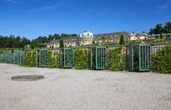 Historic gardens and Sanssouci palace architecture in Potsdam / Germany Stock Photography