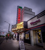 Historic Garneau movies theatre off Whyte Avenue Royalty Free Stock Photos
