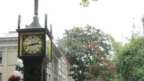 Historic Gastown with Steam Clock in Vancouver BC Canada stock video footage