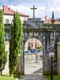 Historic gate. Bilbao, Spain. Historic gate in the city Bilbao. Basque Country, Spain Royalty Free Stock Image