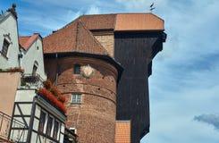 The historic gate Crane Royalty Free Stock Image