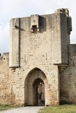 Historic gate and ramparts in the city of Aigues-Mortes. France Royalty Free Stock Photos