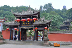 Historic Gateway in Dujiangyan, Sichuan, China Royalty Free Stock Photography