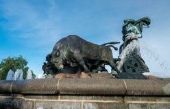 Gefion Fountain opened 1908 in Copenhagen Denmark. Historic Gefion Fountain opened in 1908 in the city of Copenhagen in Denmark Royalty Free Stock Photo