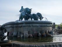 Gefion Fountain opened 1908 in Copenhagen Denmark. Historic Gefion Fountain opened in 1908 in the city of Copenhagen in Denmark Stock Photos
