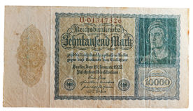 Historic german inflation Reichsmark Stock Photography