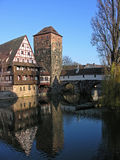 Historic Germany. A view of historic Germany. A beautiful building overlooking the water Royalty Free Stock Image