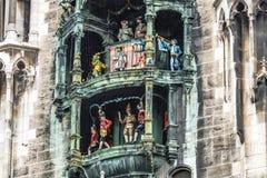 The historic Glockenspiel at Marienplatz, Munich, Germany Royalty Free Stock Photography