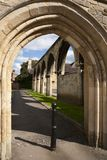 Historic Gloucester, UK. Picturesque old arches near Gloucester Cathedral,Gloucestershire, UK Stock Images