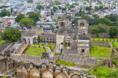 Historic Golconda fort in Hyderabad Stock Images