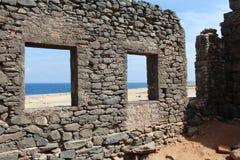 Historic Gold Mines. Beautiful old ruins near the sea - North coast, Aruba Royalty Free Stock Photo