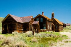 Historic gold mining ghost town Royalty Free Stock Images