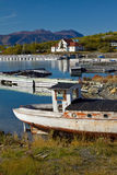 Historic gold rush village of Atlin, BC Royalty Free Stock Images