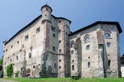 Historic gothic castle of Banska Stiavnica Stock Photos