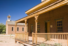 Historic Grafton. Buildings in the historic ghost town of Grafton, Utah Royalty Free Stock Image