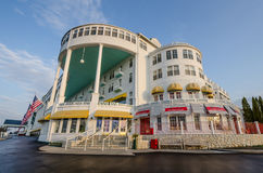 Historic Grand Hotel on Mackinac Island in Northern Michigan Stock Photos