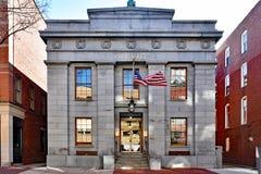 Historic City Hall Building in Salem, MA stock photo