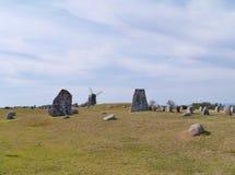 Historic graves in Gettlinge on Oland Stock Photos