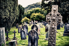 Historic graveyard in the lake district Royalty Free Stock Photo