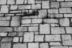Historic Gray Stone Wall Limestone Blocks Stock Image