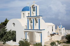Historic Greek Orthodox Church on Santorini Island, Greece Stock Photography