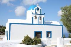 Historic Greek Orthodox Church on Santorini Island, Greece Stock Photo