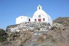 Historic Greek Orthodox Church on Santorini Island, Greece Royalty Free Stock Image