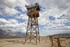 Historic Guard Tower at Manzanar National Park Stock Photography