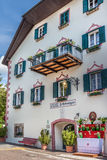 Historic guesthouse in  Lengstein at Renon Stock Photo