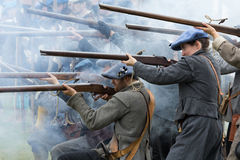 Historic gun battle Royalty Free Stock Photo