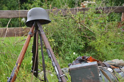 Historic guns delayed on the meadow. Historic guns (ww2) delayed on the meadow Royalty Free Stock Images