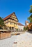 Historic half-timbered buildings in Dinkelsbuehl in Bavaria, Ge Stock Photography