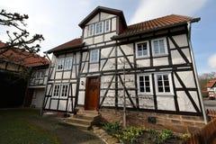 Historic half-timbered house. A Historic half-timbered house Stock Photos
