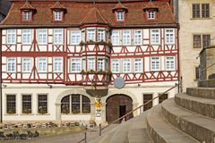 Historic half-timbered house, Germany. Historic half-timbered house in the town of Schwaebisch Hall, Germany Royalty Free Stock Image