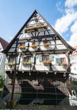 Historic half-timbered house in Ulm Stock Photo