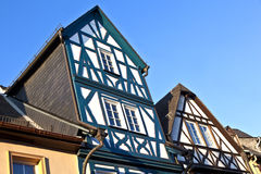 Historic half-timbered houses in Eltville Royalty Free Stock Photography