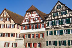 Historic half-timbered houses, Germany Stock Photography