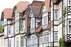 Historic half-timbered houses Royalty Free Stock Photo