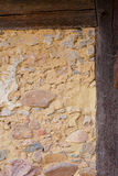 Historic Half-Timbered Wall Detail Stock Image