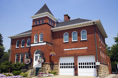 Historic Hall and Fire Station in Independence Stock Images