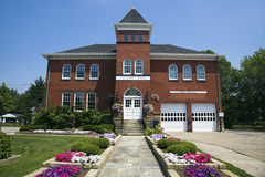 Historic Hall and Fire Station in Independence Royalty Free Stock Photography